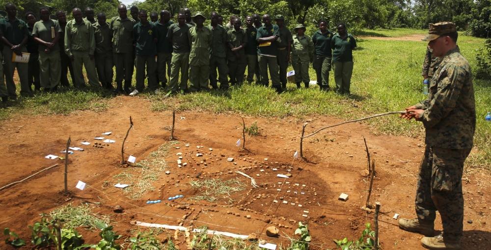 makieta, US Marines and Tanzanians work to fight illicit trafficking