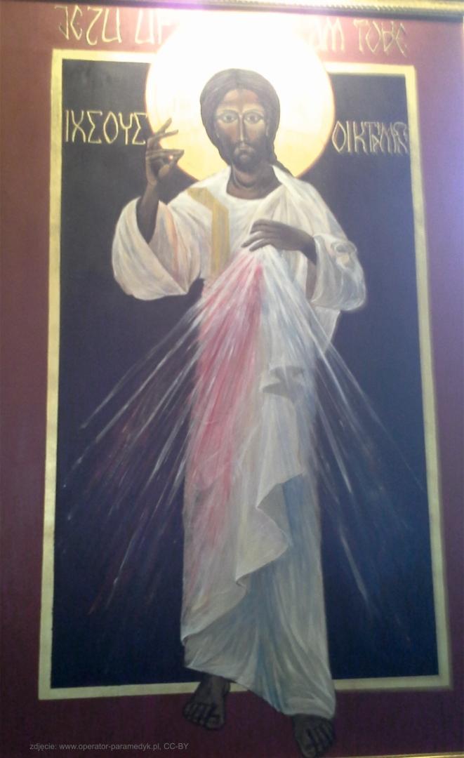 ikona Jezusa Miłosiernego z krakowskiej kaplicy oo. Augustianów, zdjęcie: www.ariaad.nazwa.pl/operator-paramedyk, CC-BY