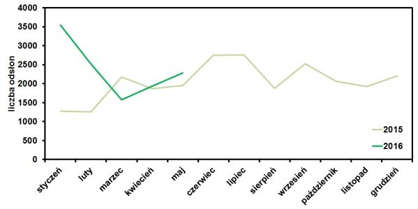 statystyki wejść na blog operator-paramedyk w maju 2016