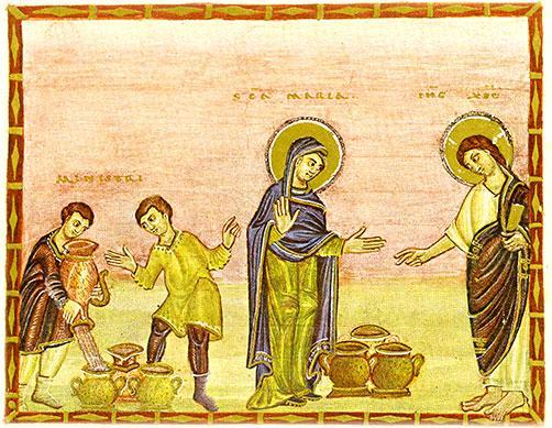Jezus na weselu w Kanie Galilejskiej, CC-0