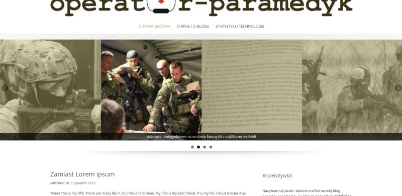 zapowiedź nowego wyglądu bloga operator-paramedyk