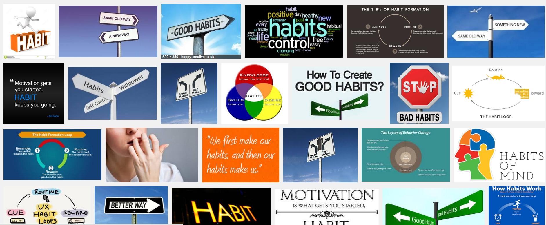 """O tym, że nawyki są ważne może świadczyć to, co wyskoczyło mi w wyszukiwarce grafiki, gdy wpisałem """"habit"""""""