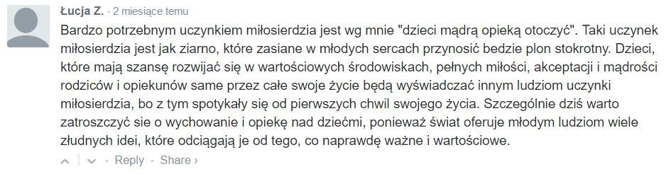 komentarz Łucji Z.