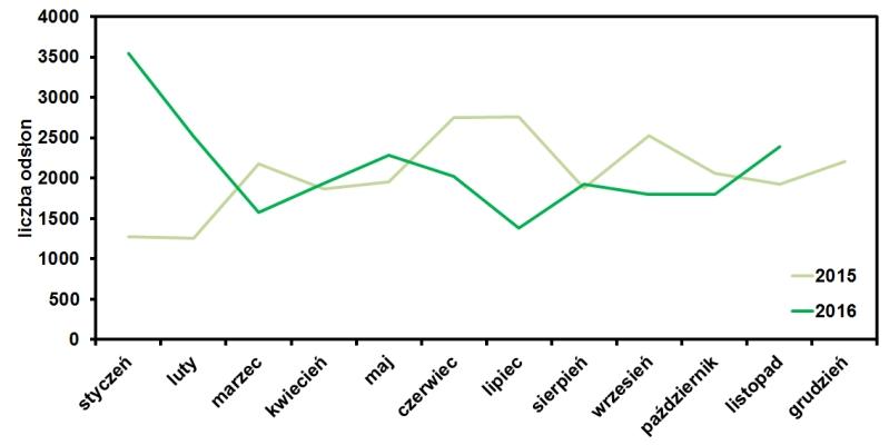 statystyki odwiedzin strony www.operator-paramedyk.pl w listopadzie 2016