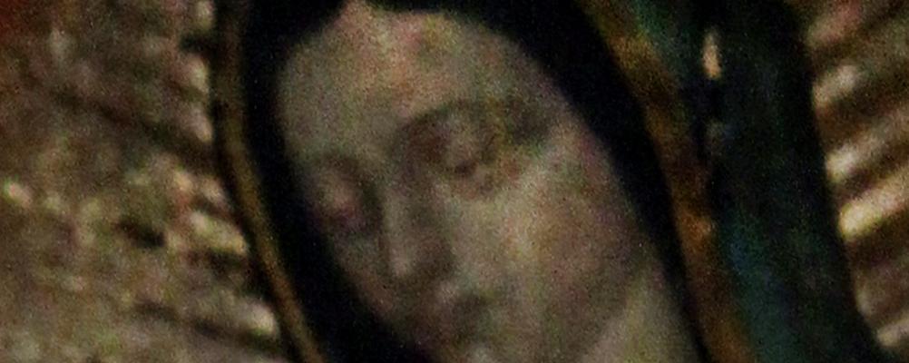oczy Maryji z obrazu w Guadelupe, CC-0