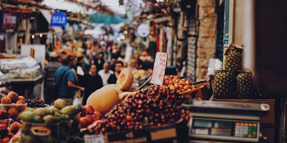 Rynek w Jeruzalem roxanne-desgagnes@unsplash.com, CC-0