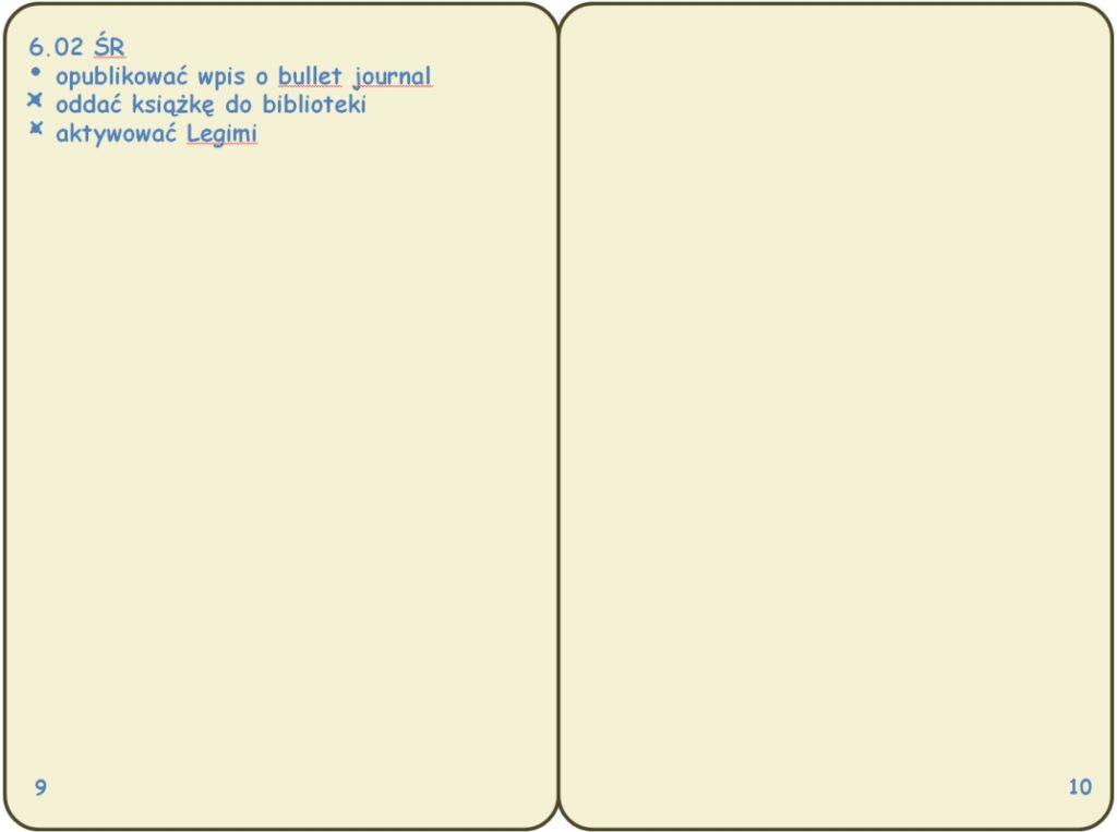 bullet journal daily log, (c) operator-paramedyk.pl